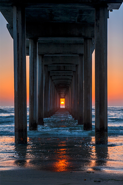 Scripps Pier sunet